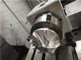 成海机床MLV850加工中心加工叶轮视频